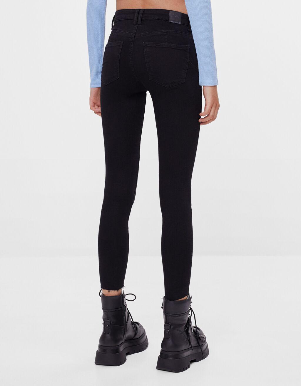 Mid-waist push-up jeans - Jeans - Woman