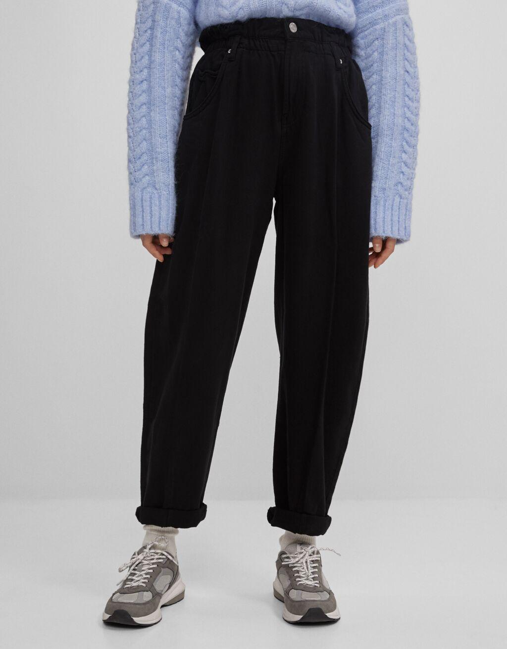Pantalón Slouchy con cintura elástica