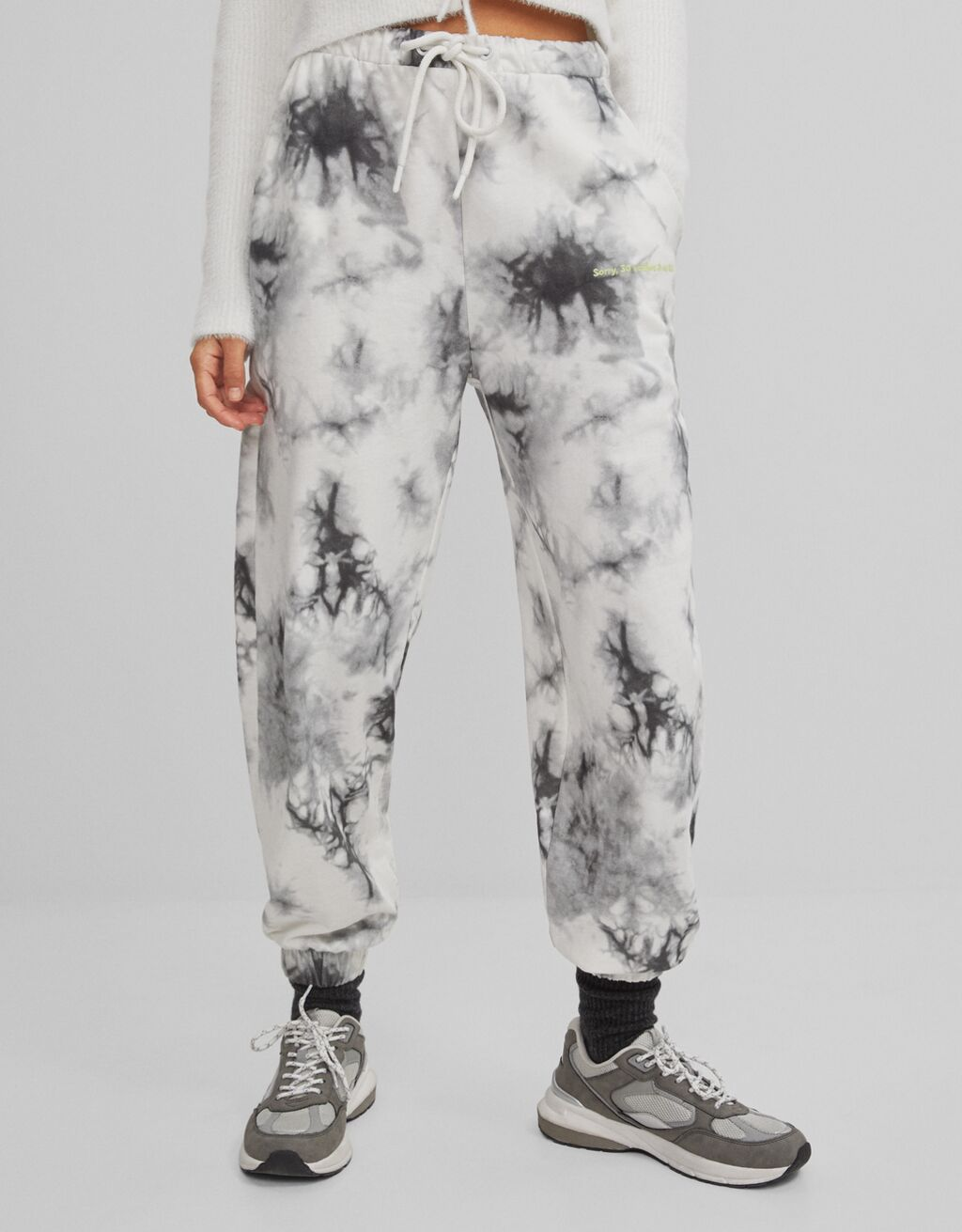 Jogging trousers with a tie-dye print