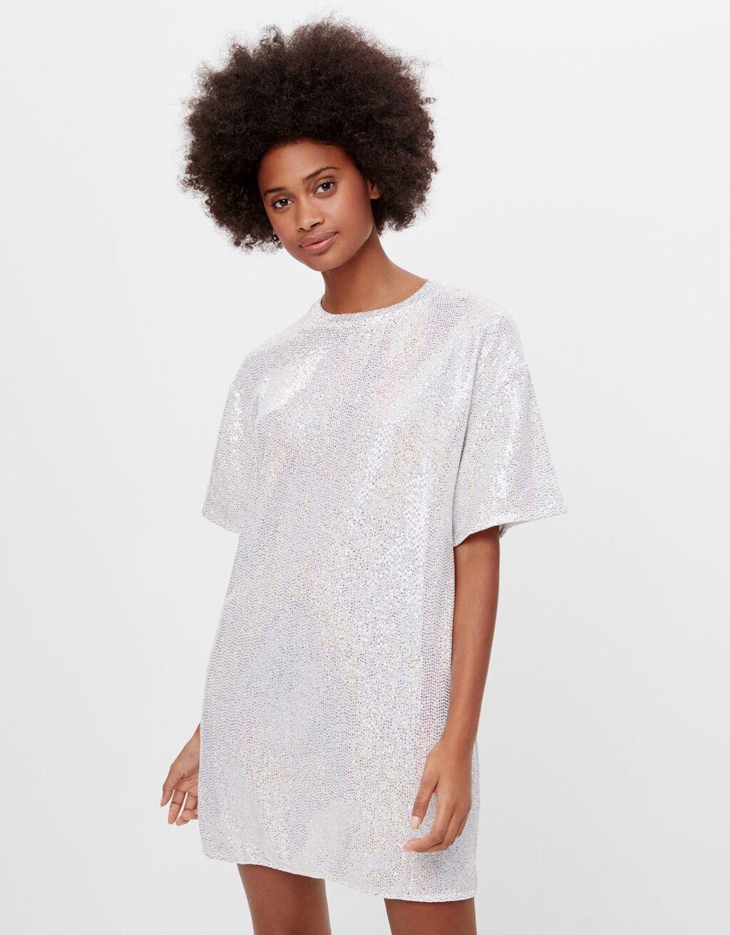 Glittery T-shirt dress