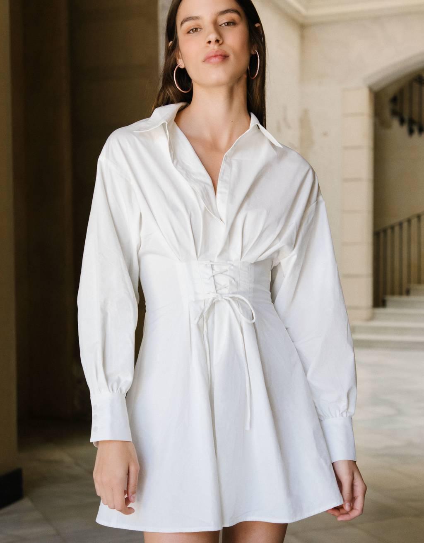 Hemdkleid aus Popelin