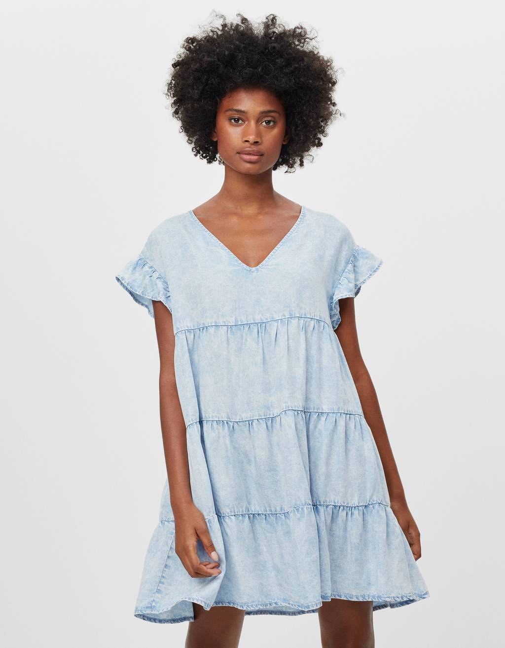 Baby-doll TENCEL ® denim dress