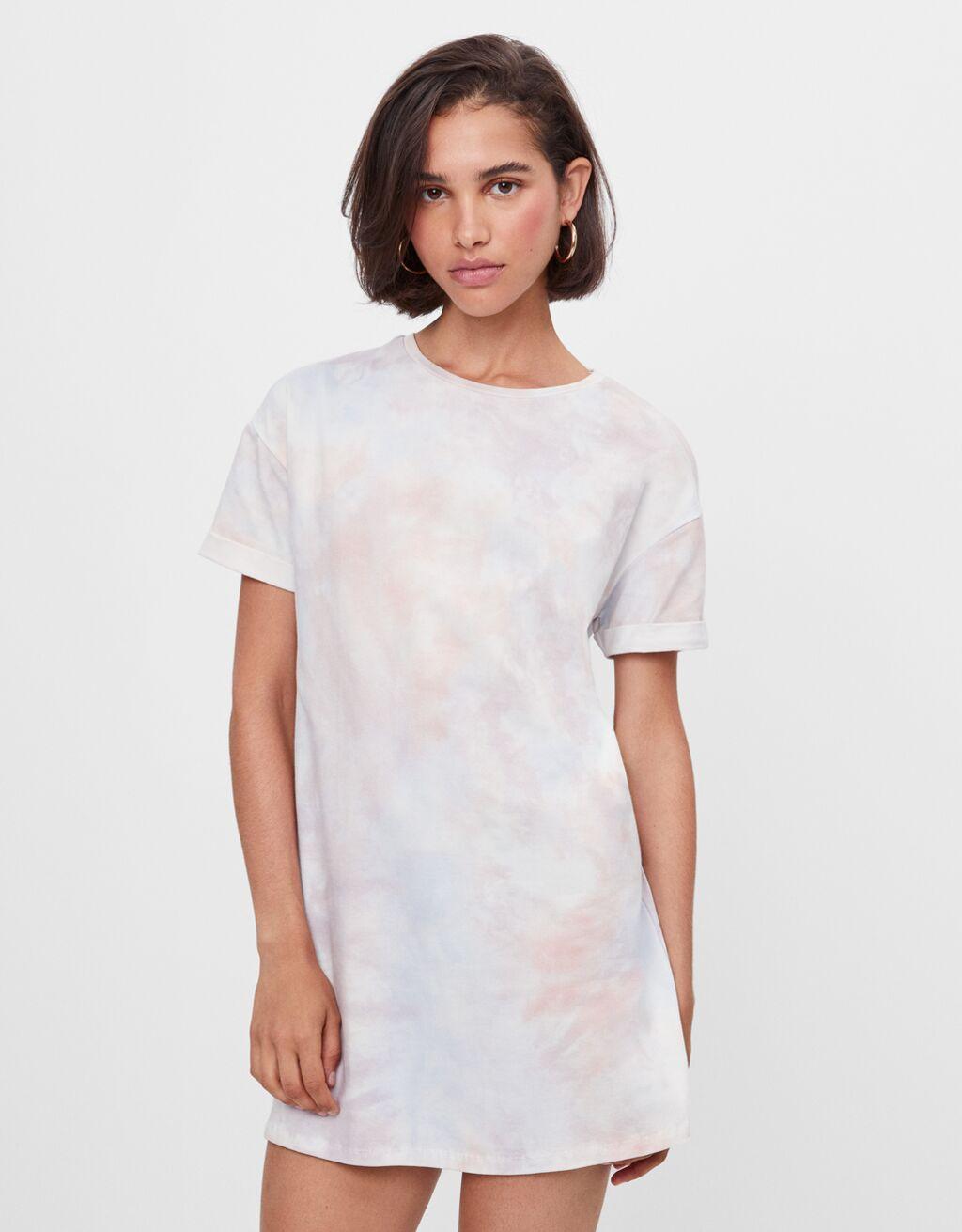 Короткое платье с эффектом потертости