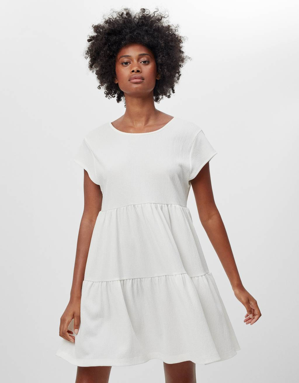Short sleeve babydoll dress