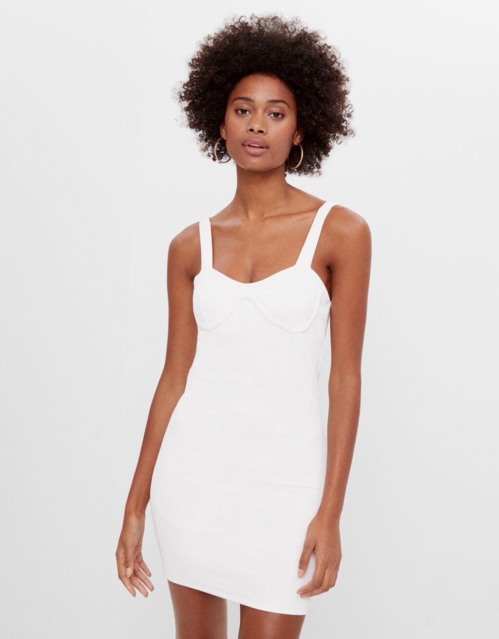 Короткое платье корсетного типа