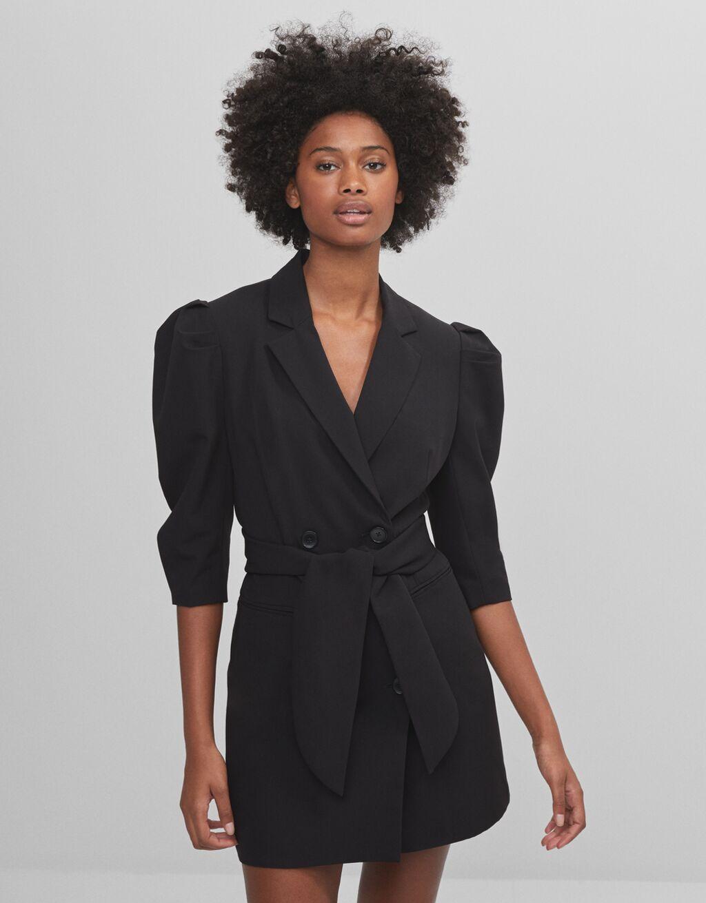 Full sleeve blazer dress