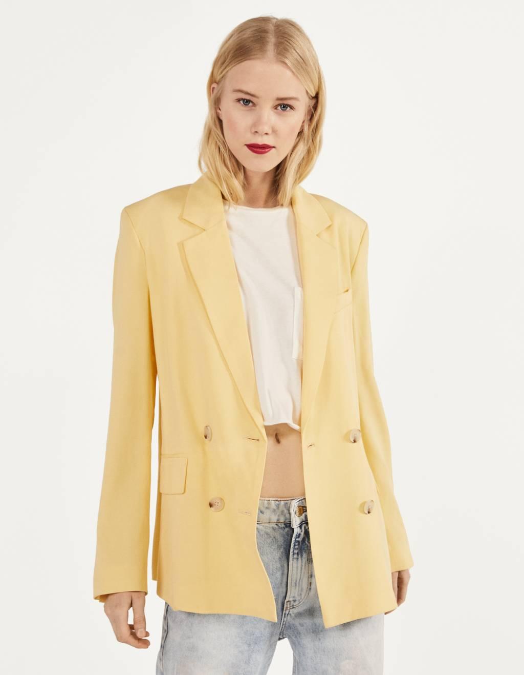 Straight-cut blazer