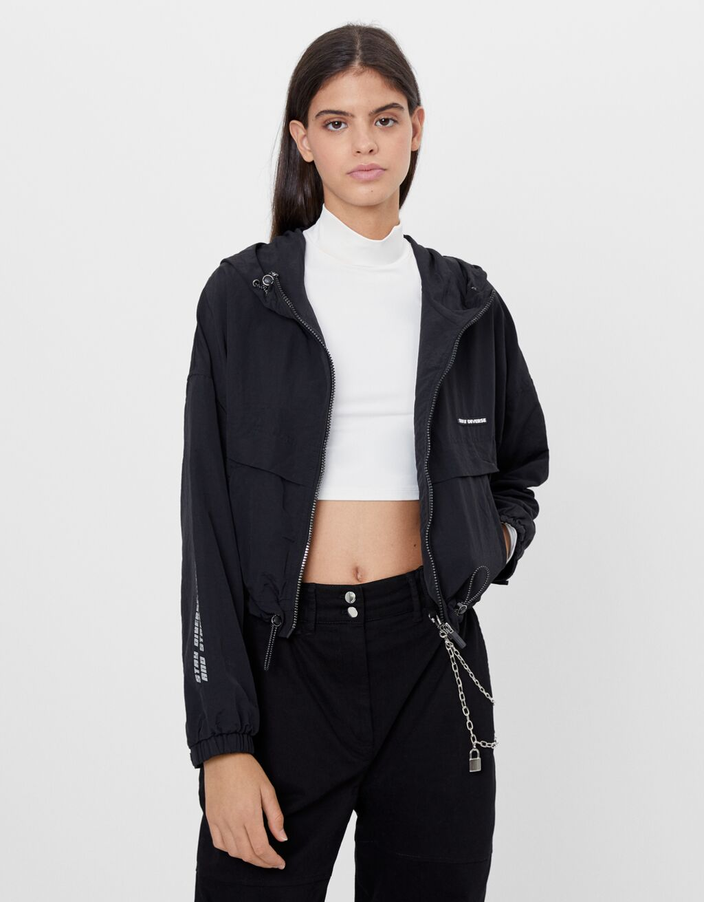 Hooded reflective jacket