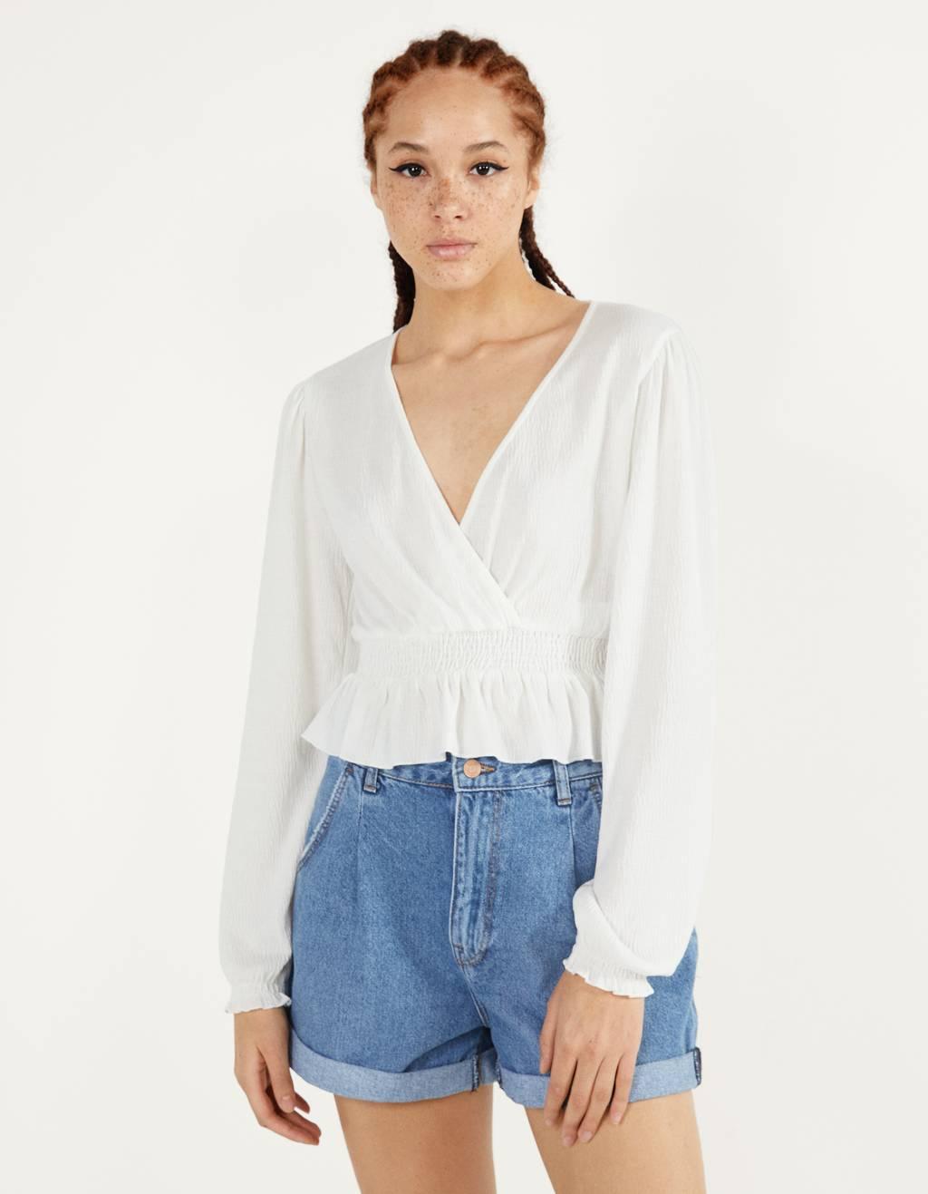 Crossover neckline top