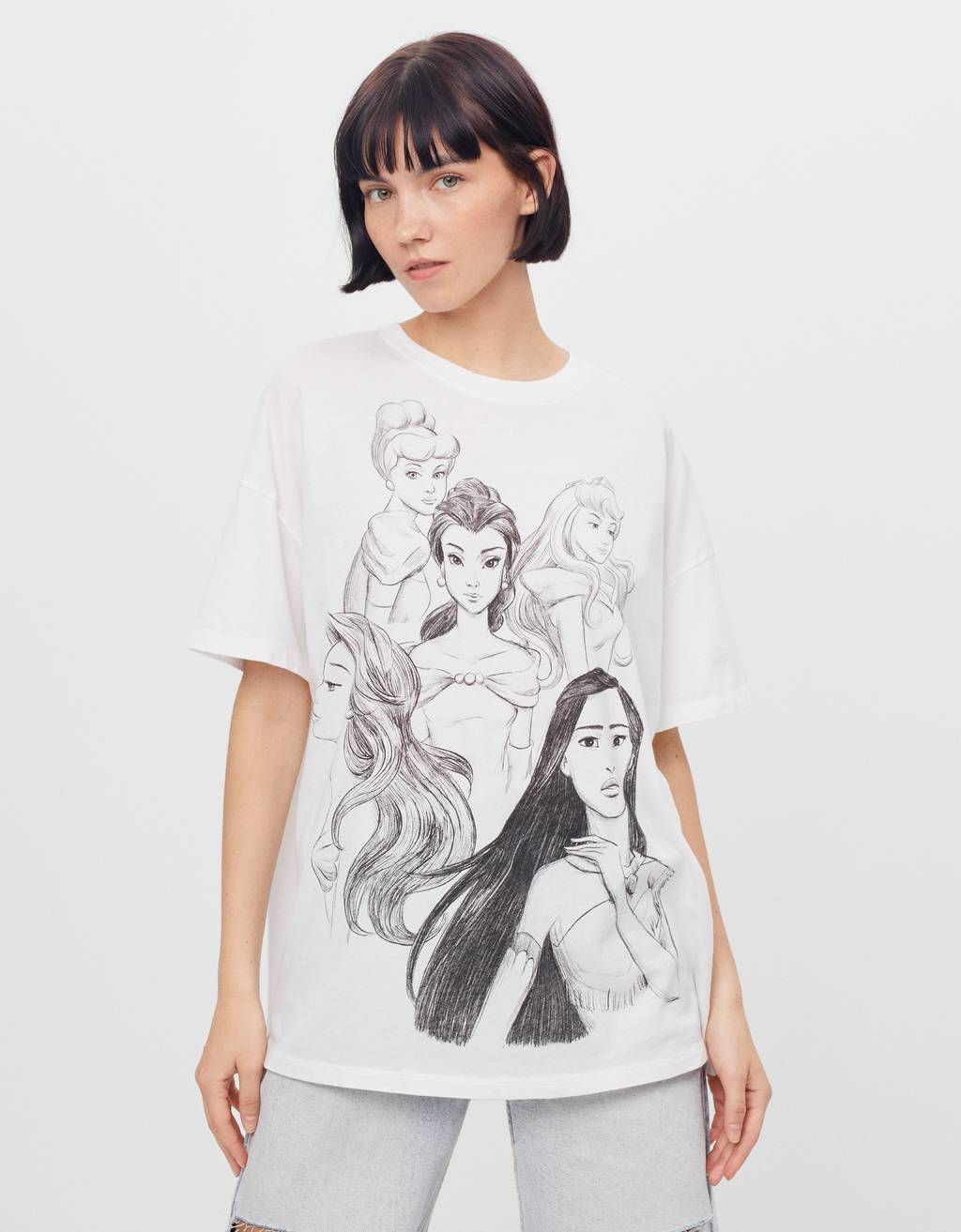 T-Shirt mit Disney-Prinzessinnen
