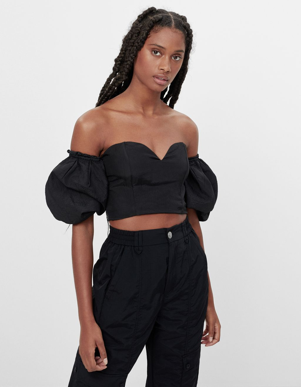Voluminous off-the-shoulder top