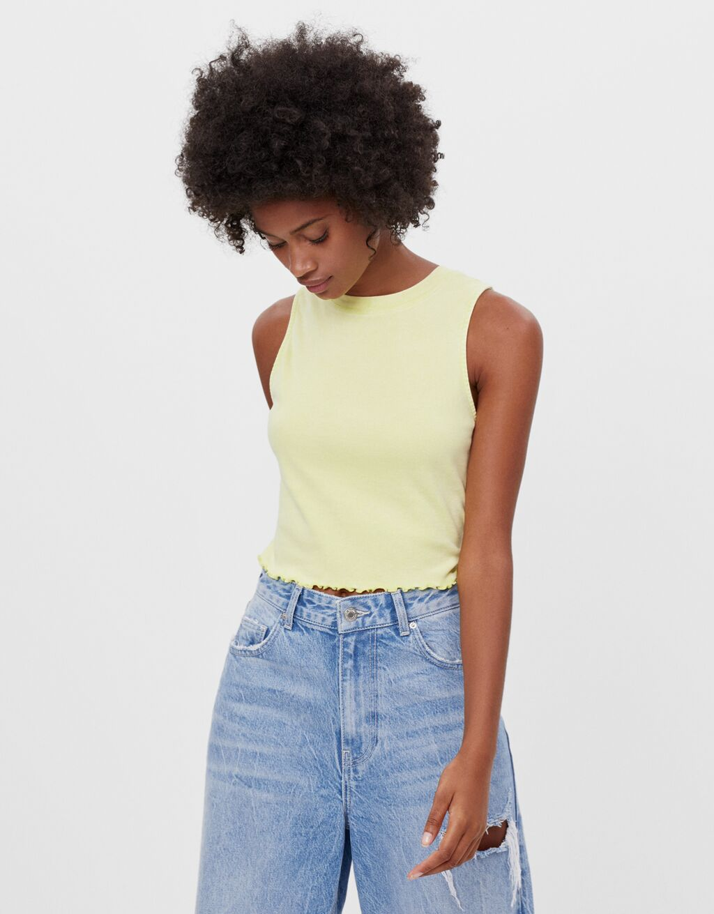 Crop top sans manches