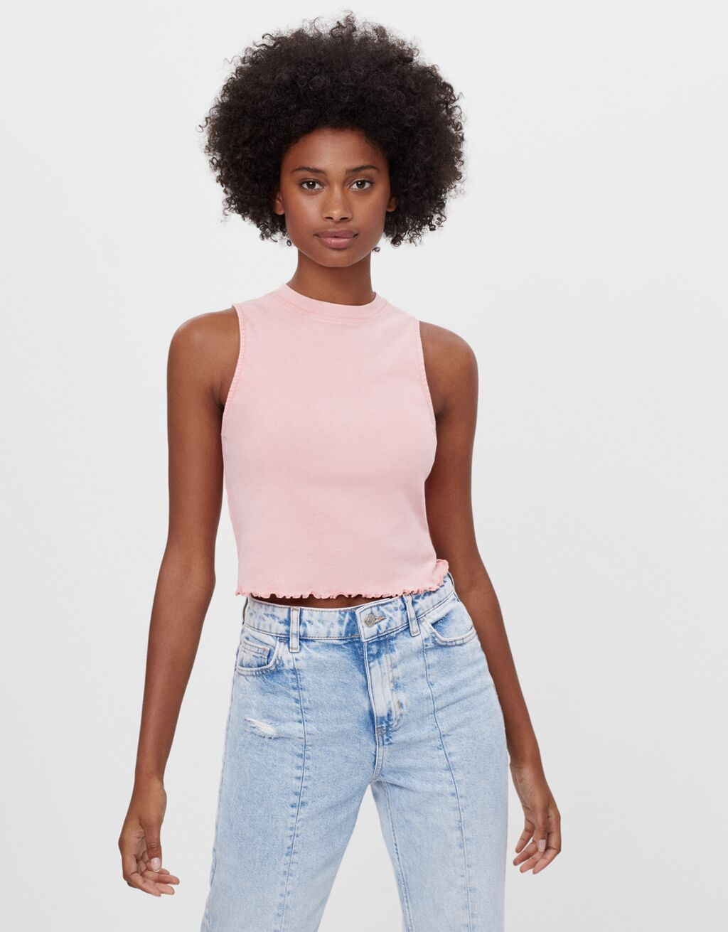 Sleeveless crop top