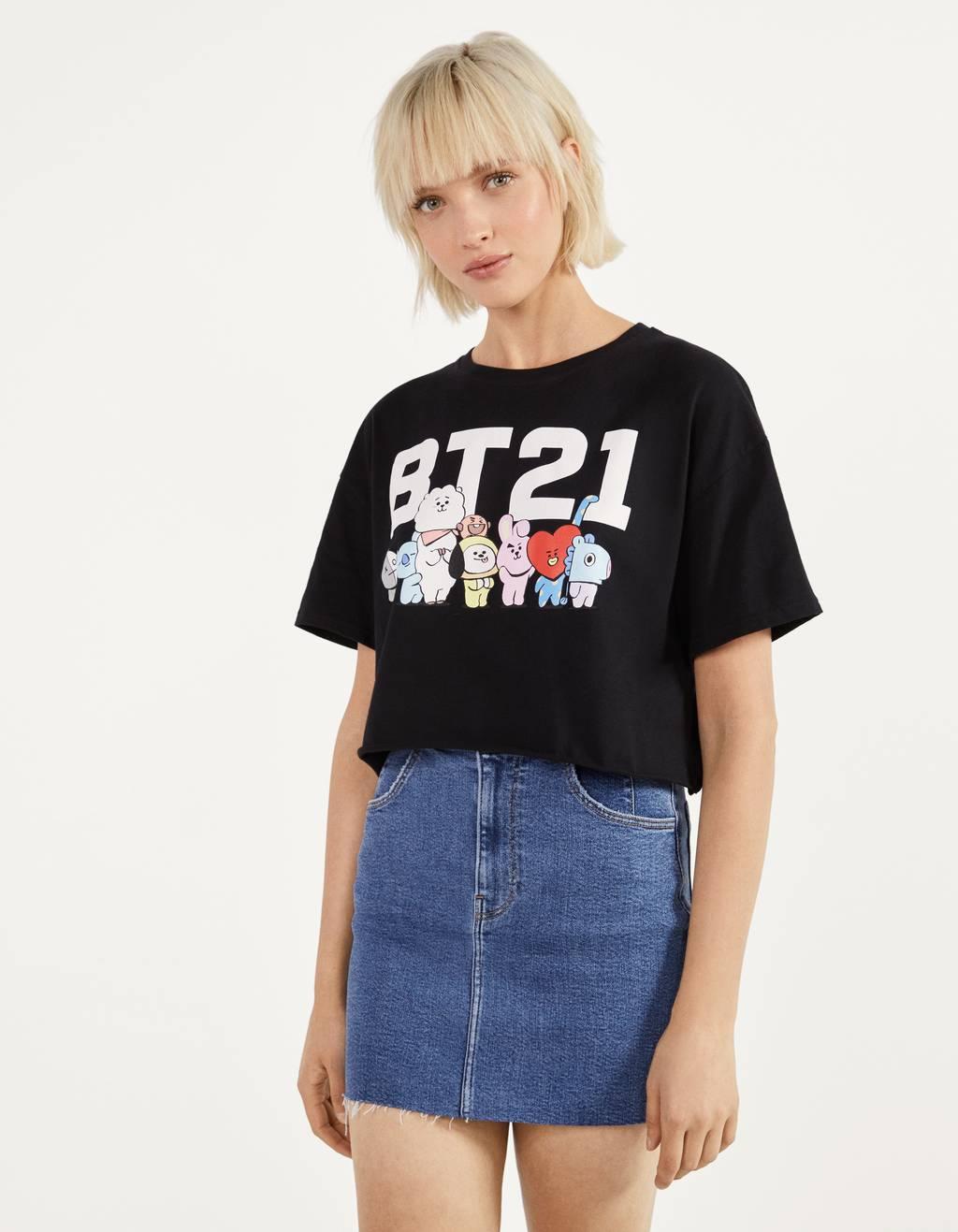 BT21 print T-shirt