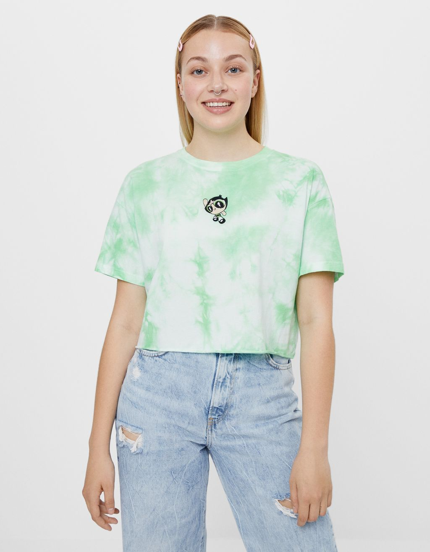 Tie-Dye-Shirt Powerpuff Girls x Bershka