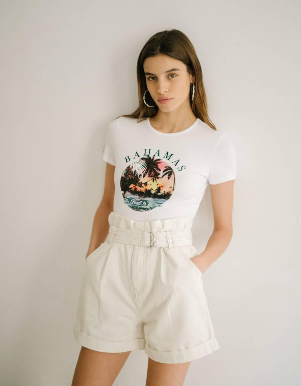 Bedrucktes T-Shirt - Damen
