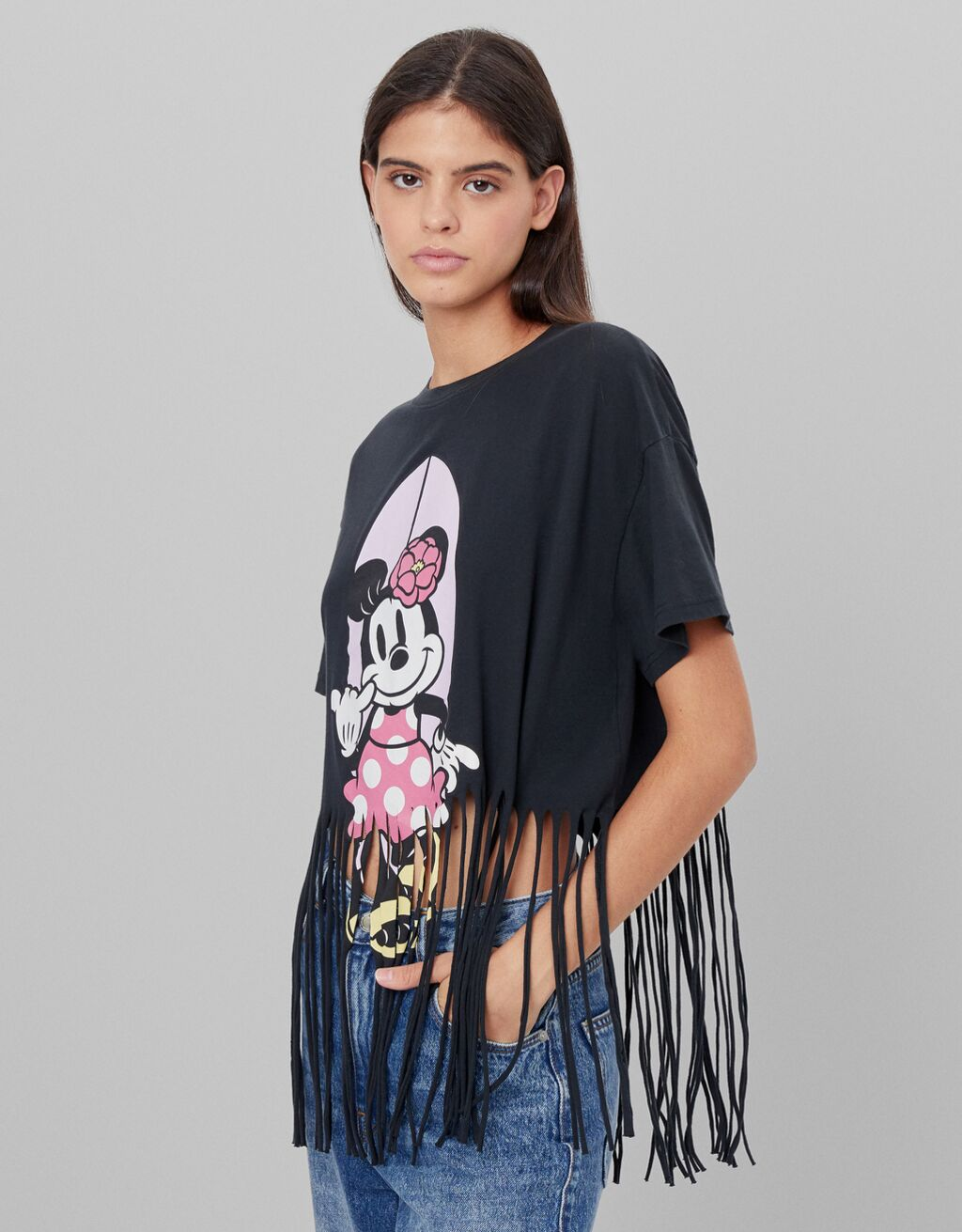 Camiseta Minnie flecos