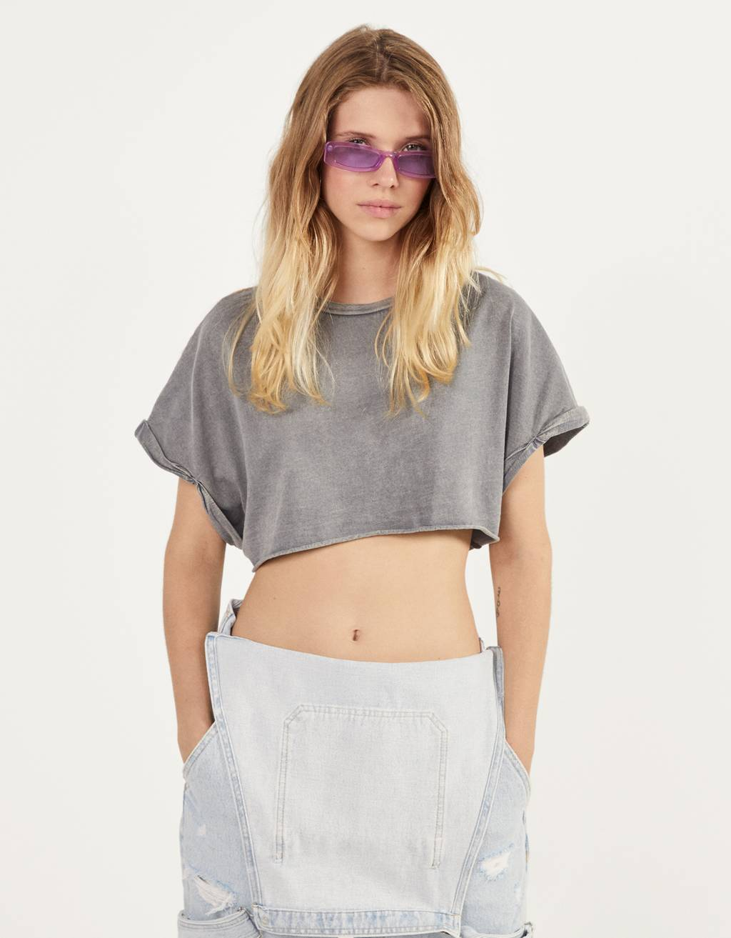 T-shirt super cropped