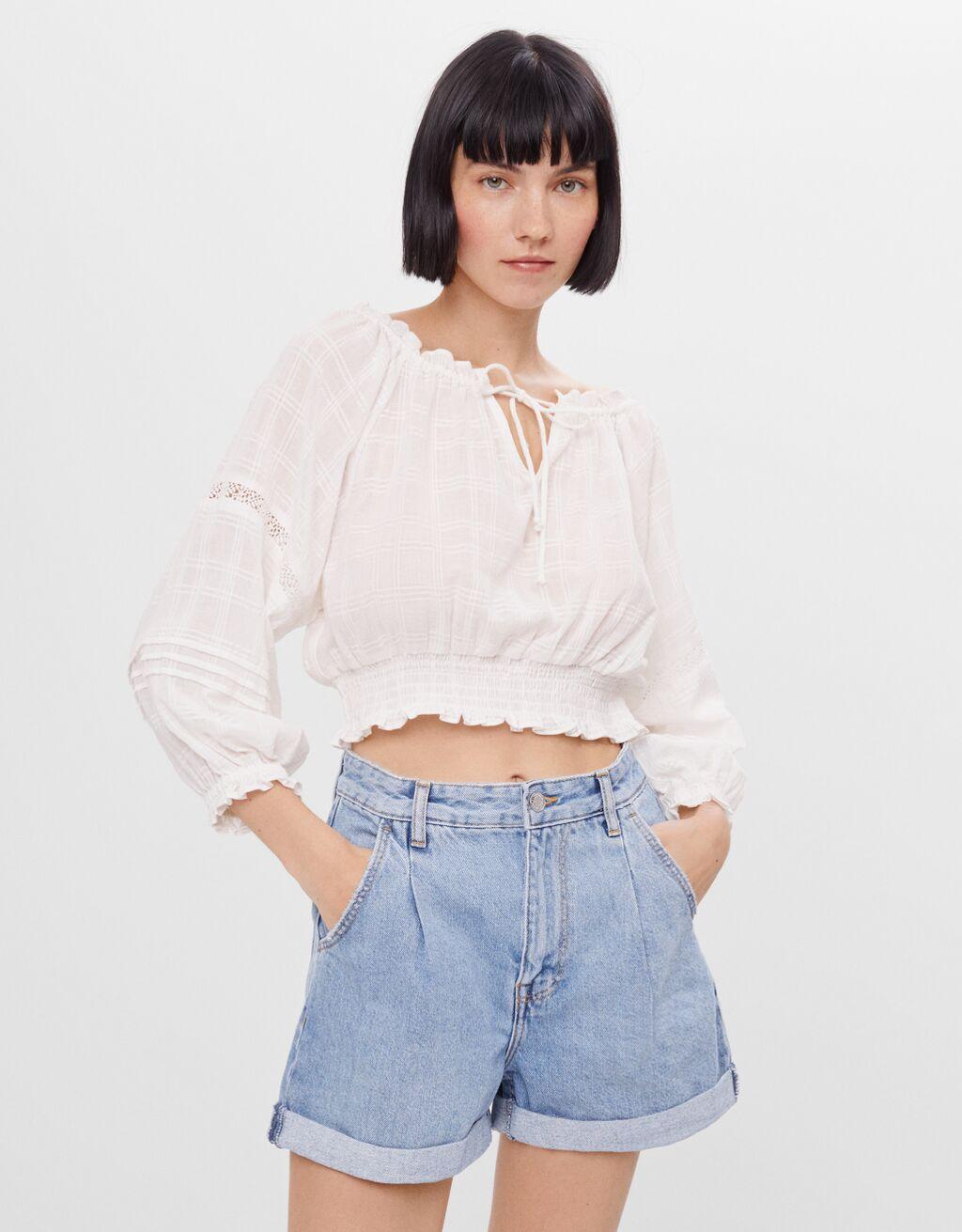 Shorts denim mom fit