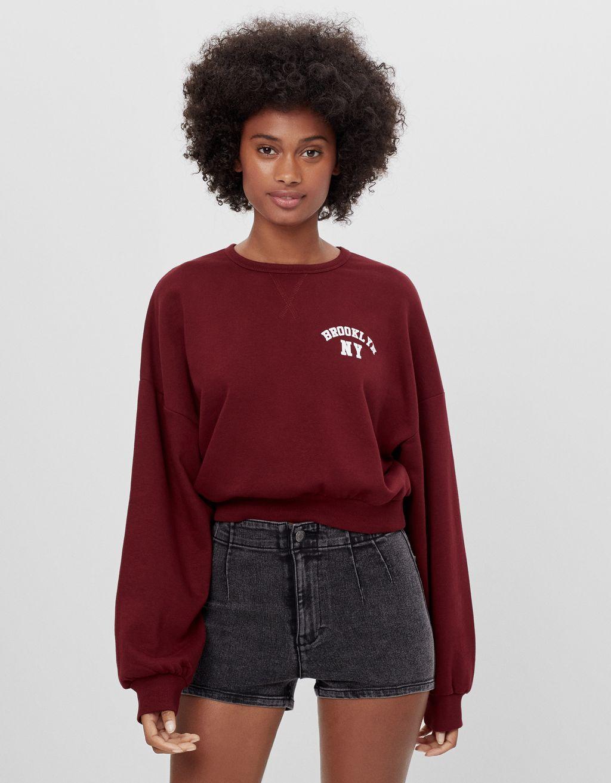 Shorts in denim High Waist