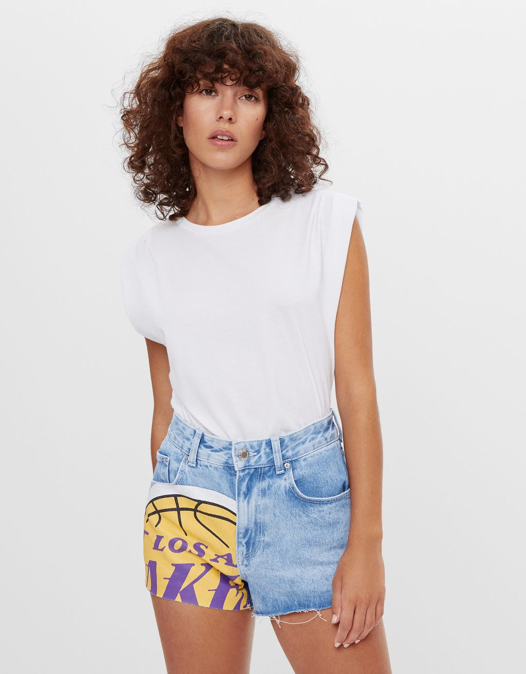 NBA denim shorts
