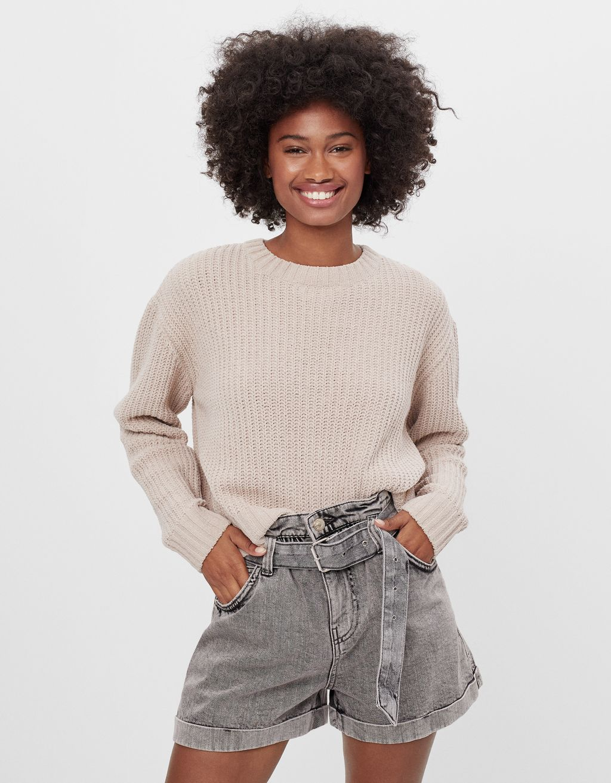 Shorts paperbag con cintura