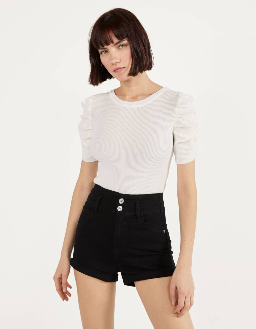 Short High Waist con vuelta