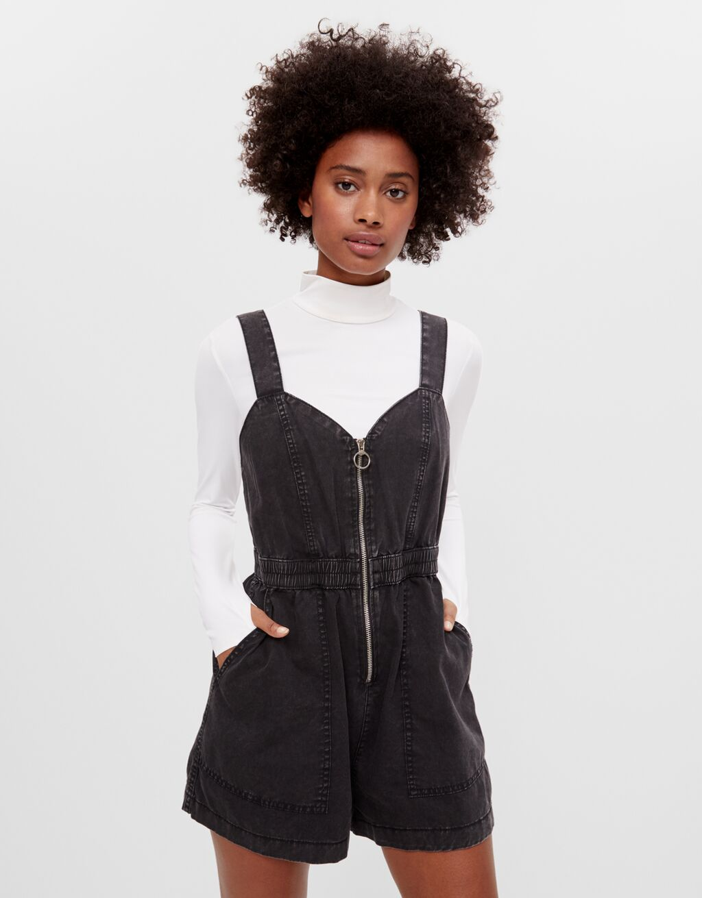 Zip-up playsuit