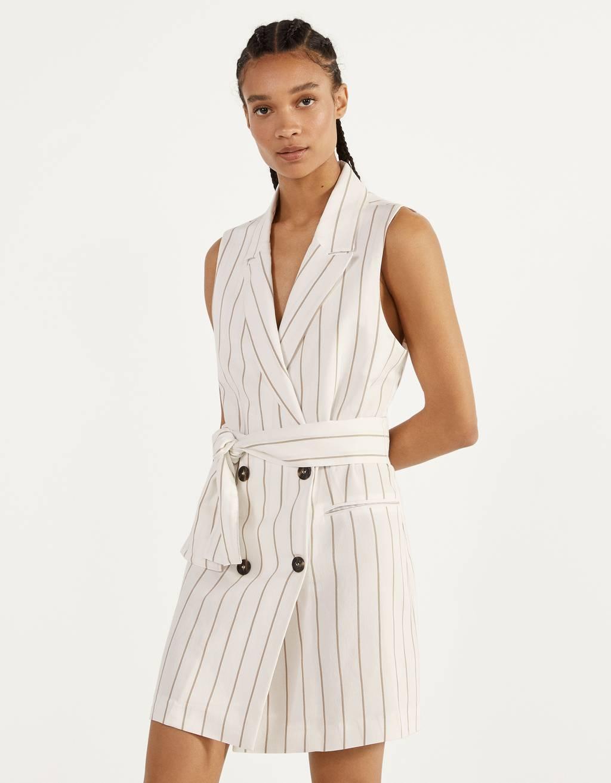 Жилет-пиджак с поясом