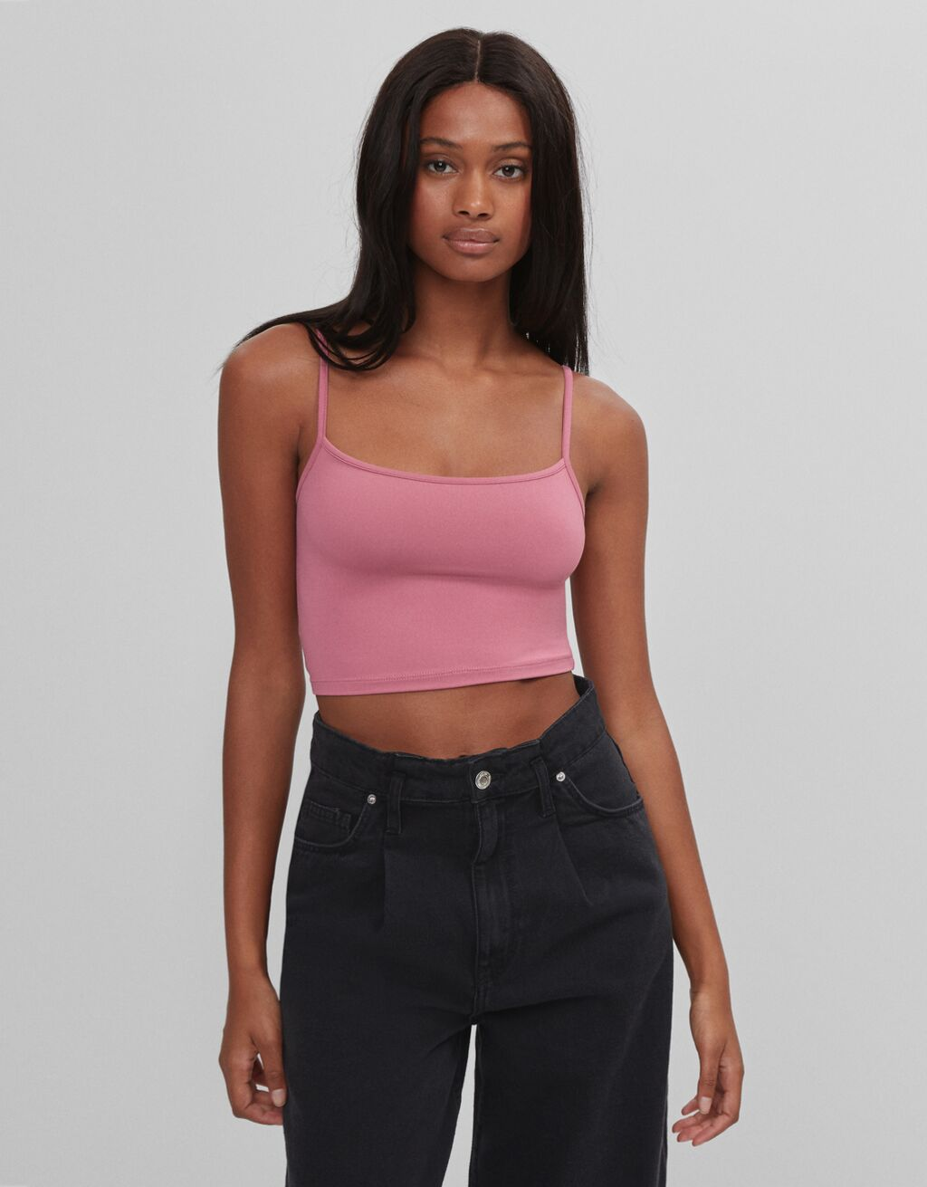 Top cropped de tirantes
