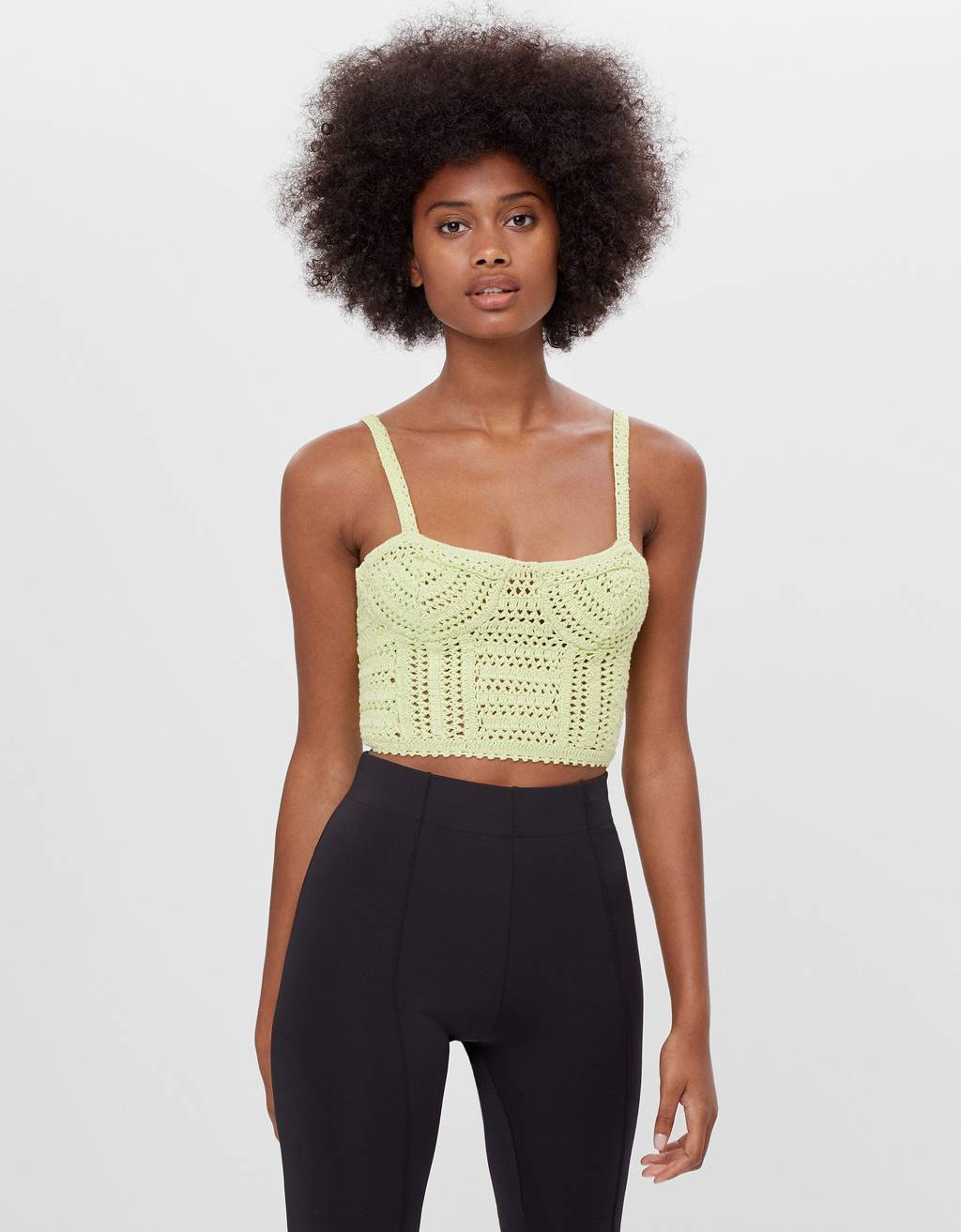 Top corsetto crochet