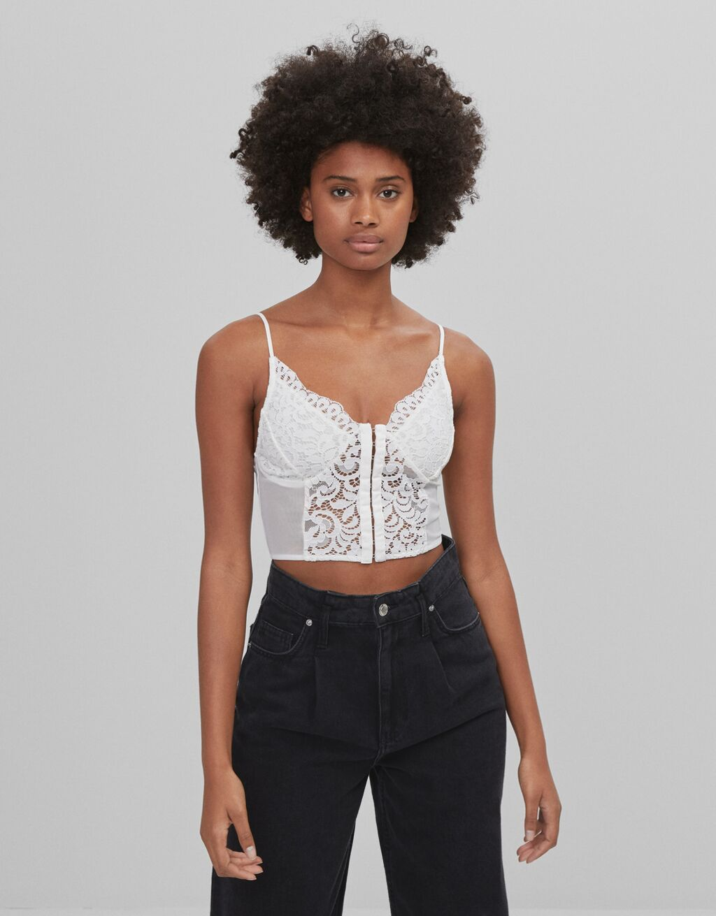 Top style corset dentelle