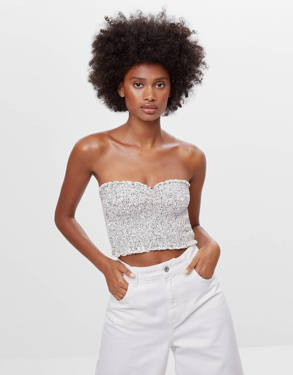 Top bandeau strass