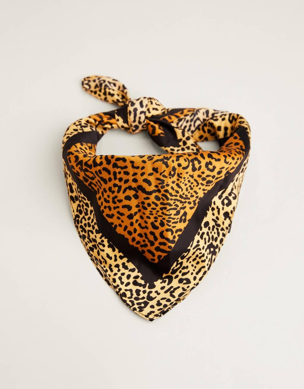 Leopard print neckerchief