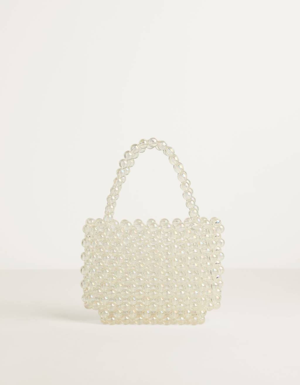 Iridescent faux pearl bag
