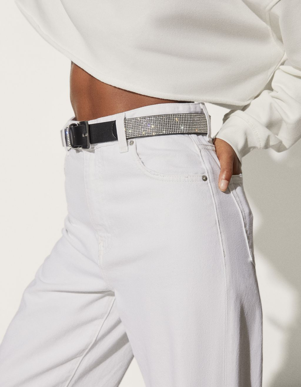 Diamanté belt