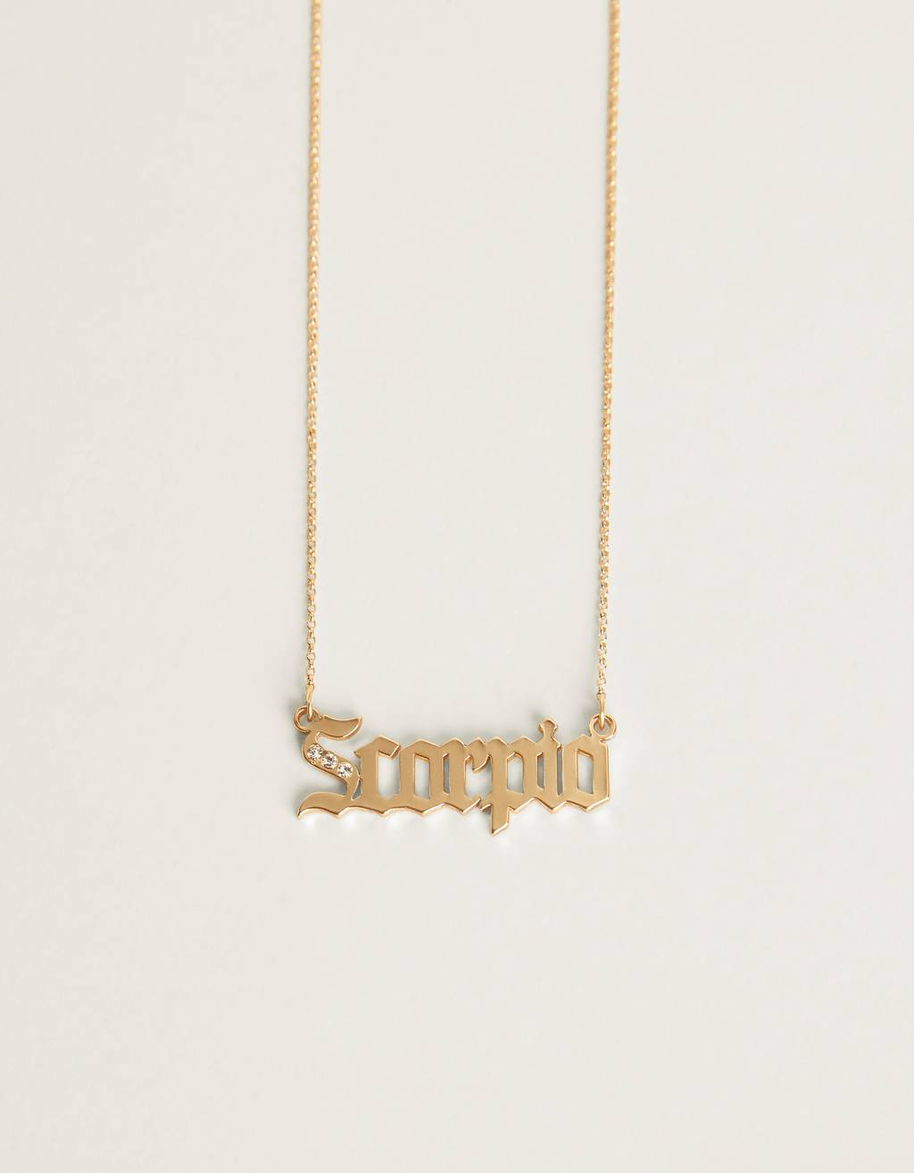 Scorpio zodiac necklace