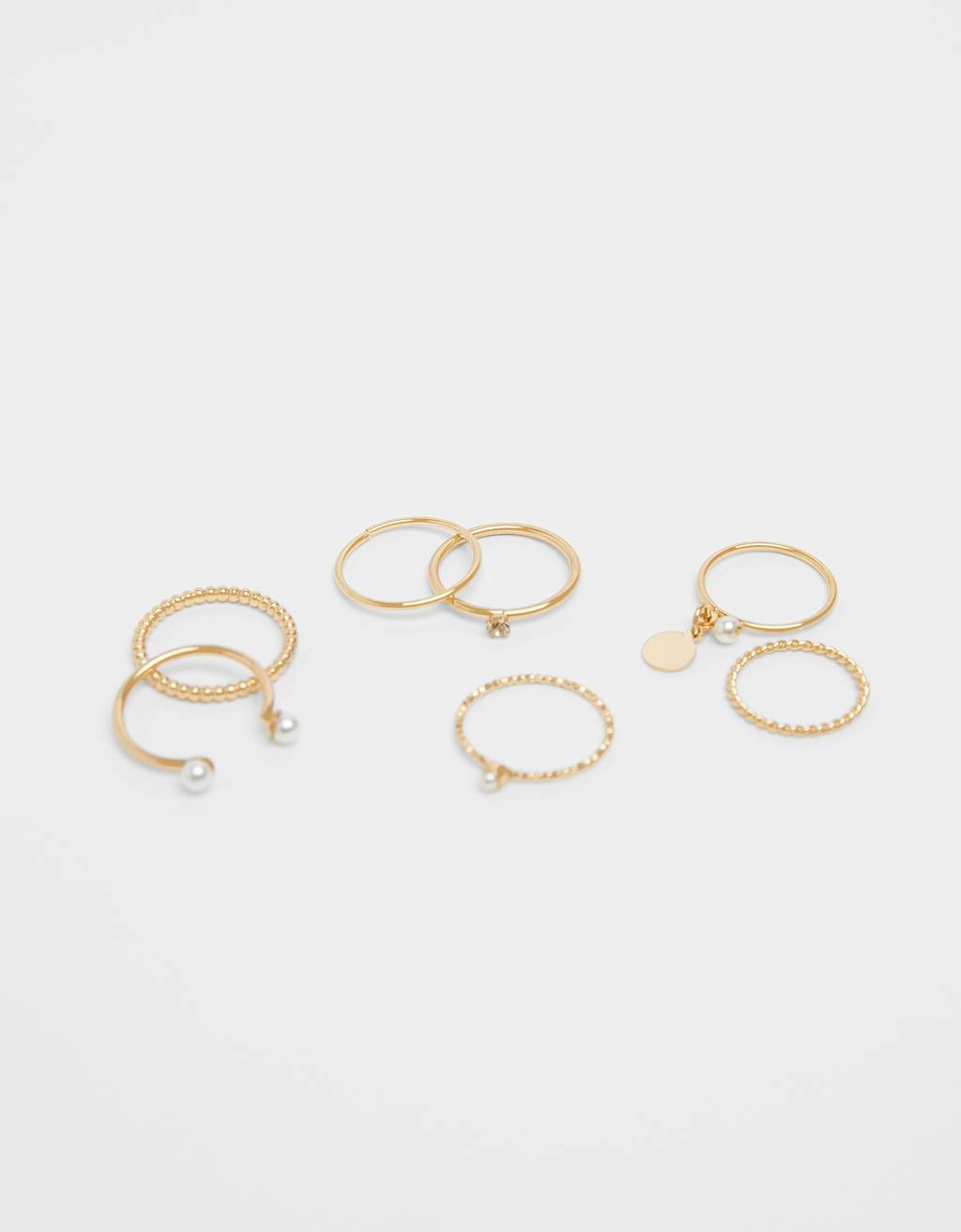 Set of faux pearl rings