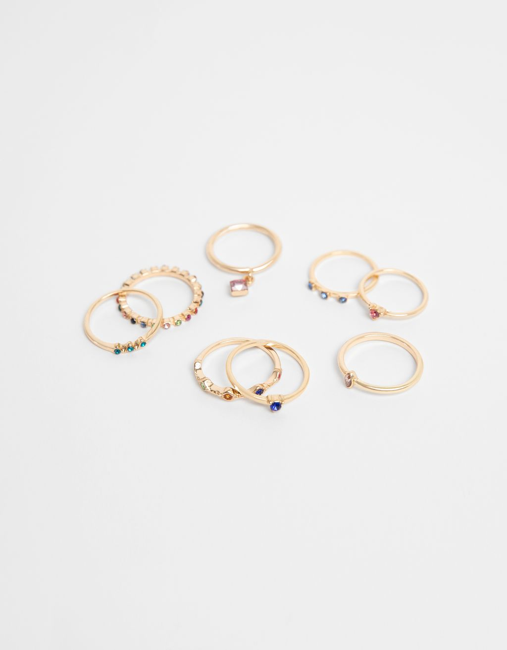 Set of multicoloured rings
