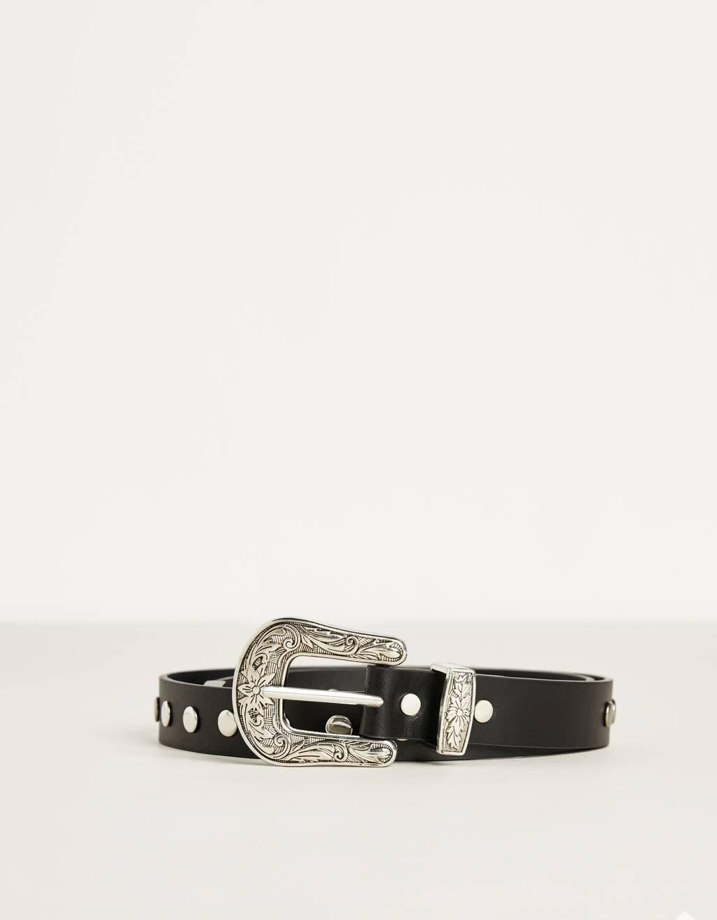 Studded cowboy belt
