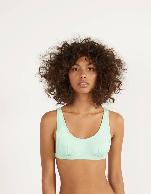 Gathered bikini top