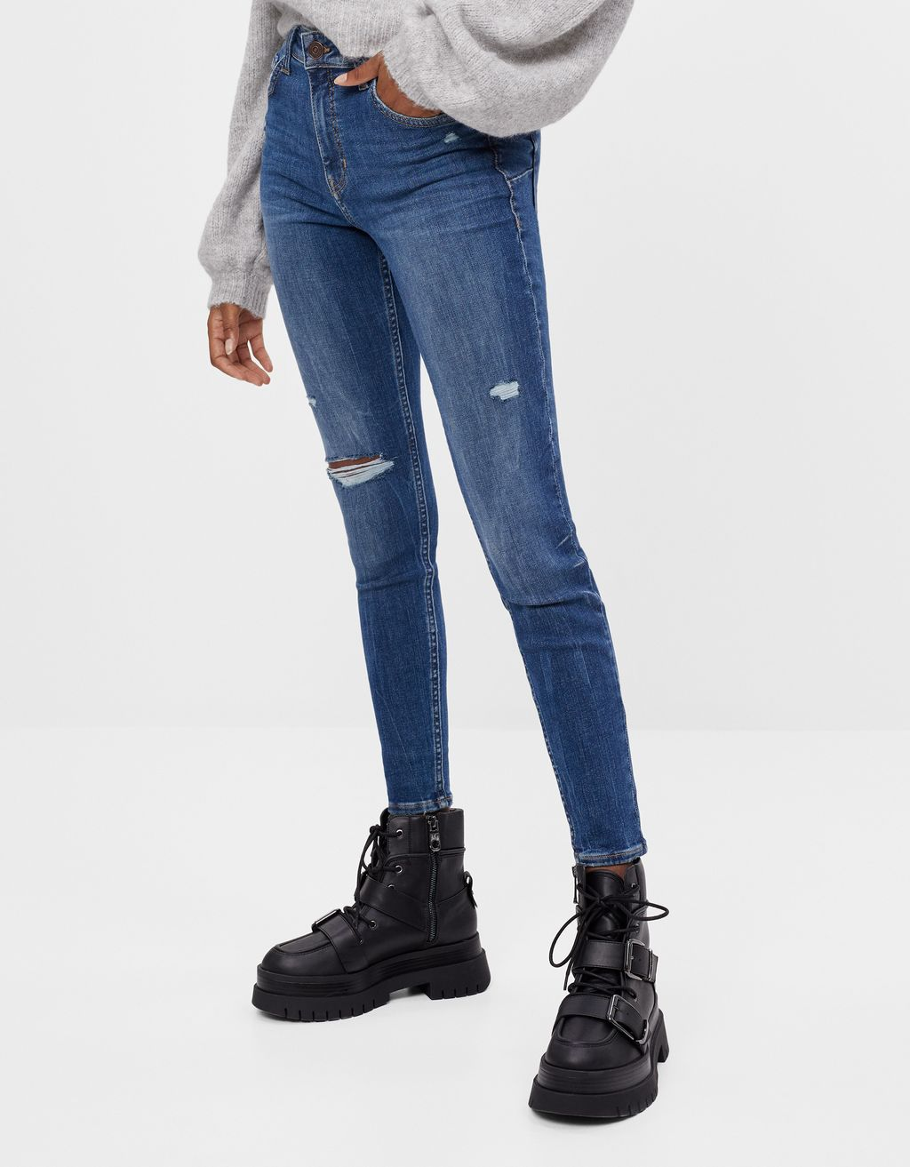 Stretchy push up jeans