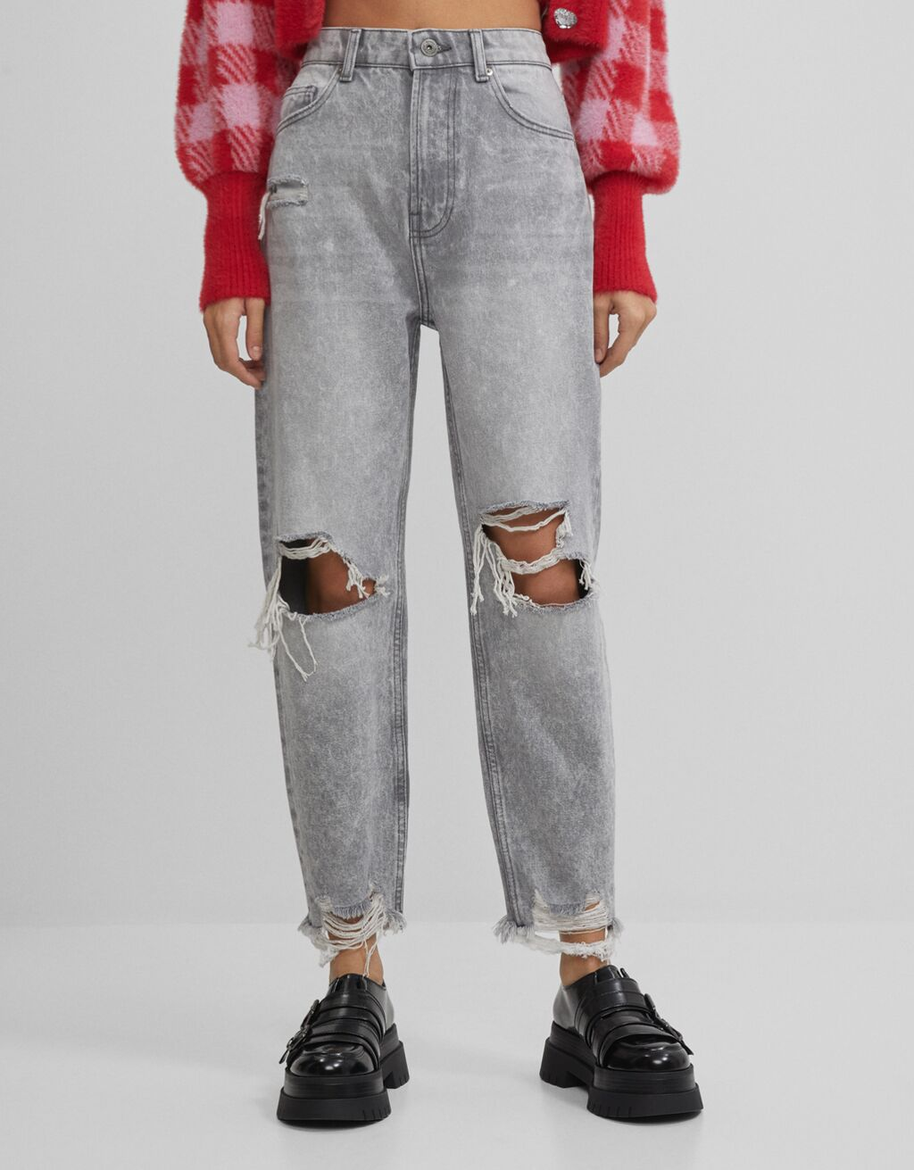 Ripped mom jeans - Jeans - Woman