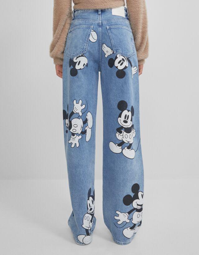 Mickey Mouse 90s Jeans Jeans Woman Bershka