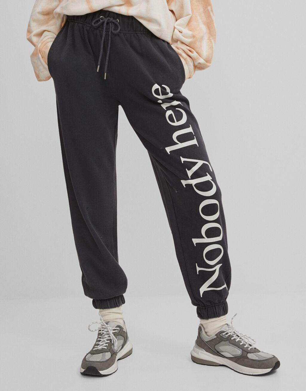 Joggers with print