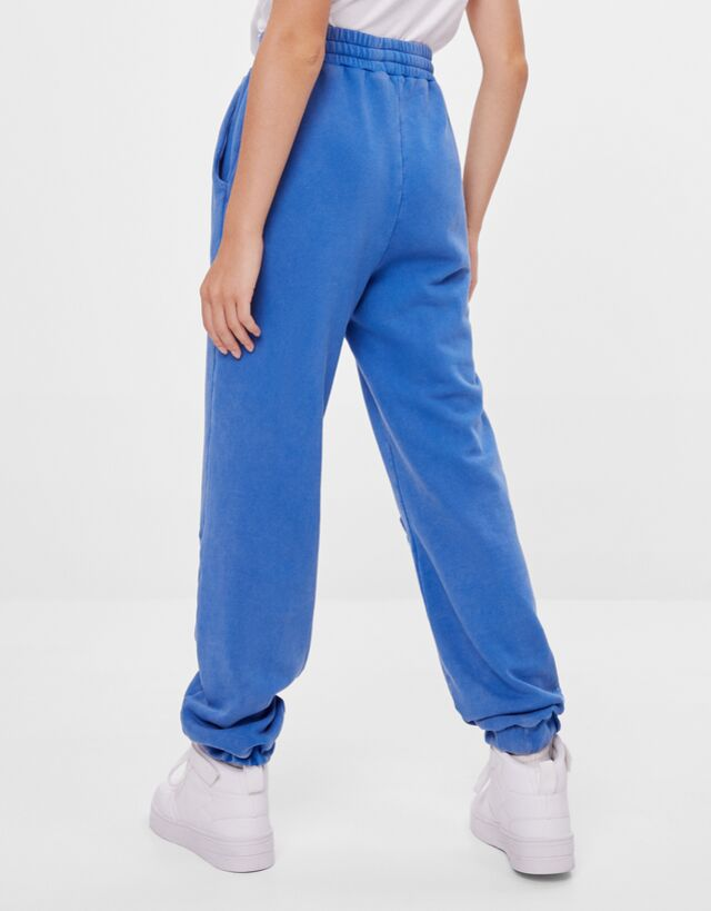 Pantalon Jogger Rotos Pantalones Mujer Bershka