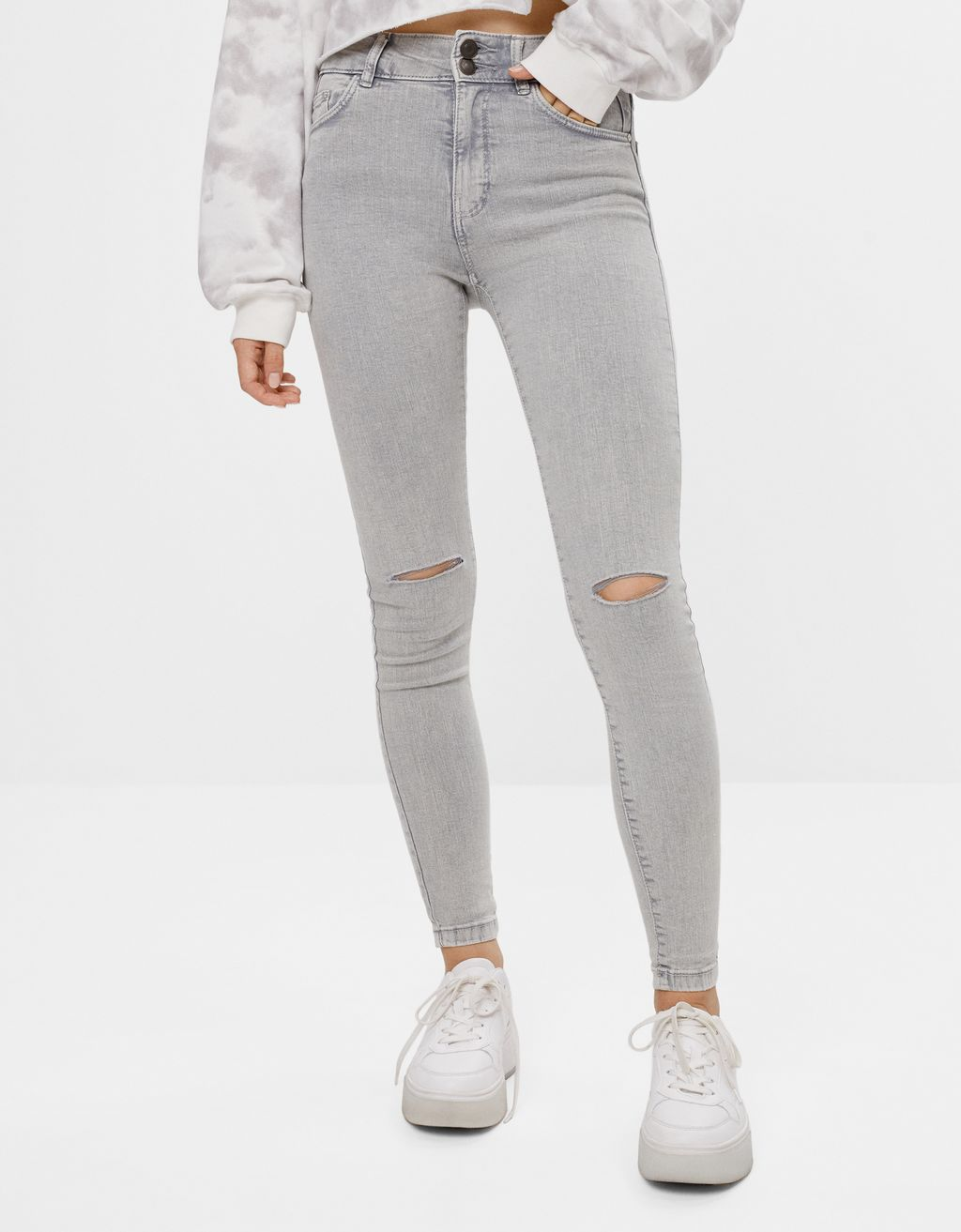 Ripped push-up trousers