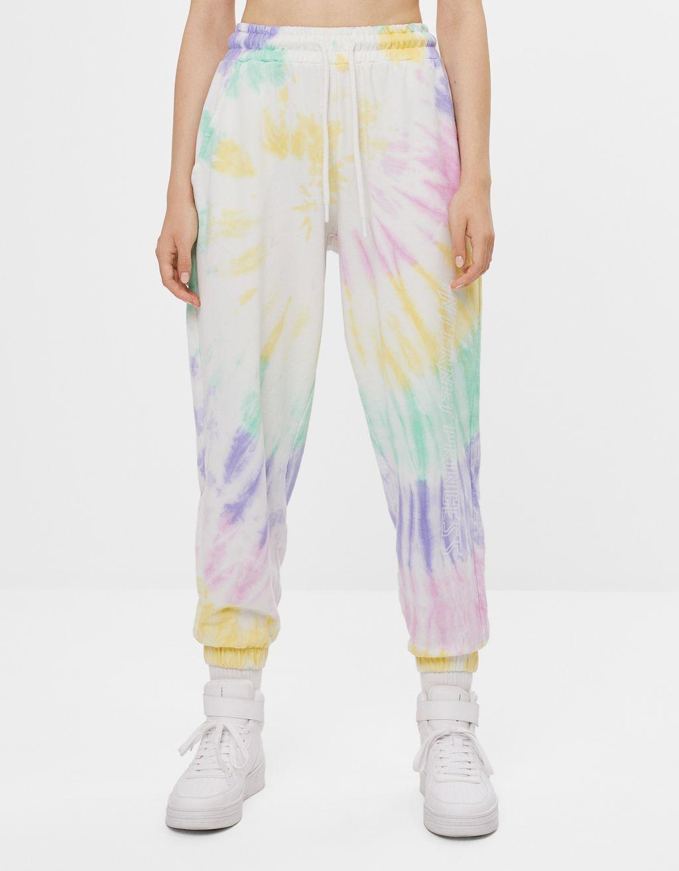 Pantalons jogger tie-dye