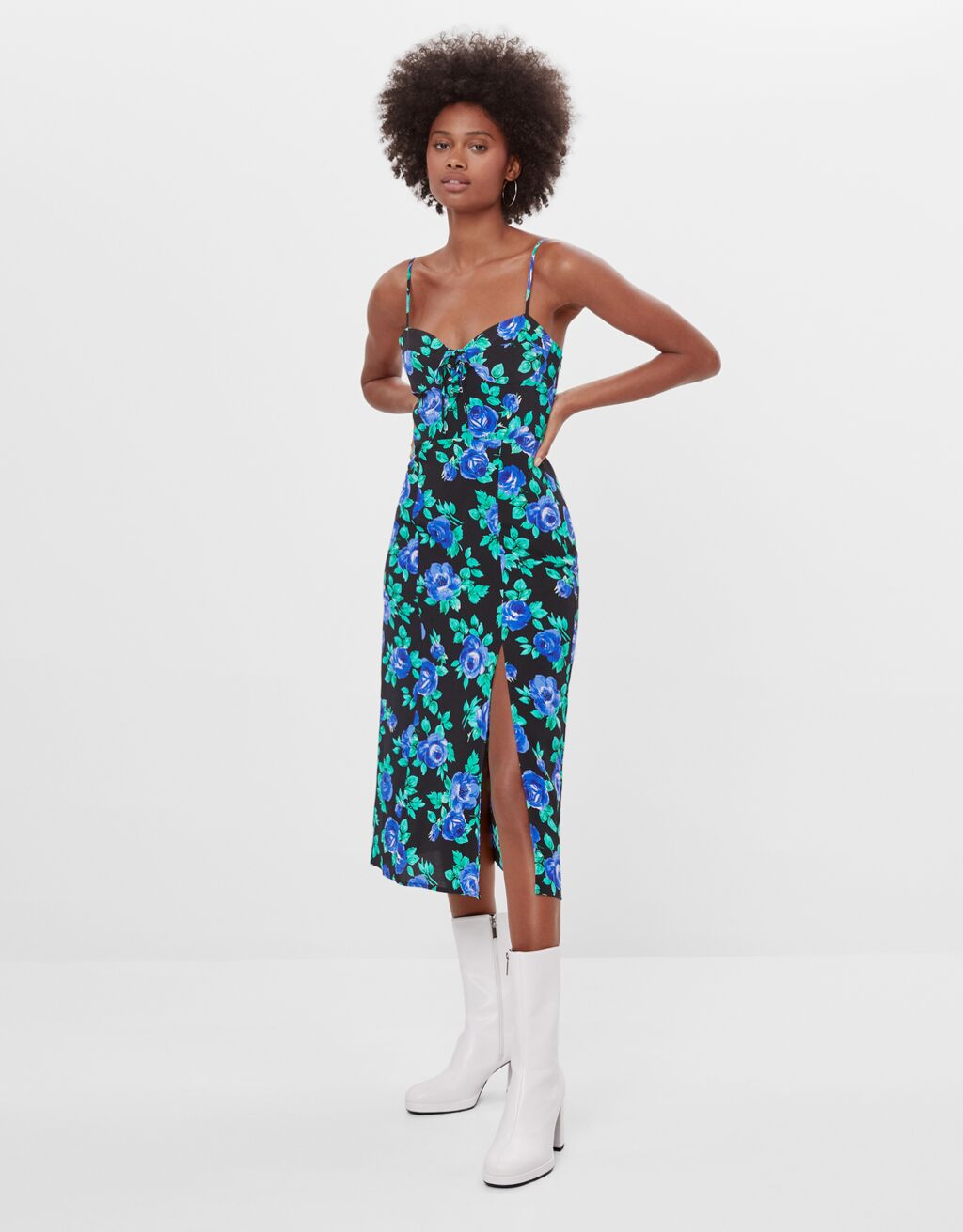 Midikleid mit Blumenprint - Kleider - Damen