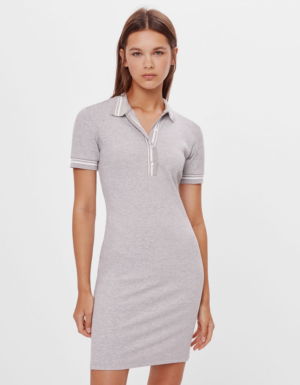 Polo dress with zip